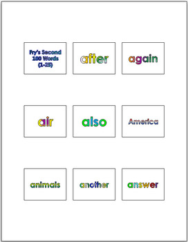 Fry's 1000 Words for PowerPoint & Flash Cards + Bonus Fry's 100 Picture Nouns