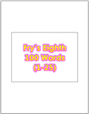 Fry's Eighth 100 Vocabulary Sight Words (1 - 100) PowerPoi