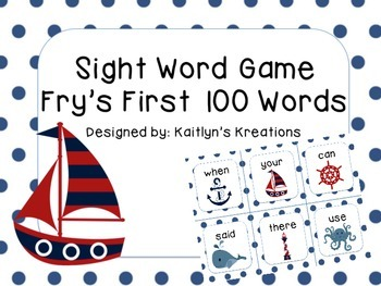 Fry's FIRST 100 Words Sight Word Game