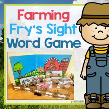 Fry's First 200 Sight Words Game and Word Cards (Farm Themed)