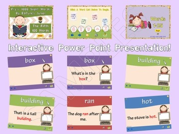 Fry's Fifth 100 Sight Words Bundle by EdTunes Jr.