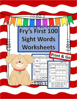 Fry's First 100 Cut and Paste Worksheets