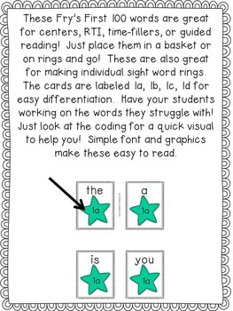 First Grade Sight Words: Flashcards