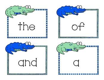 Fry's First 100 Kindergarten Word Wall Words