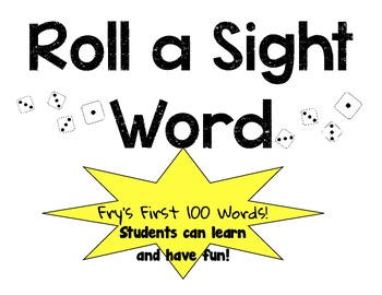 Fry's First 100 Roll a word game