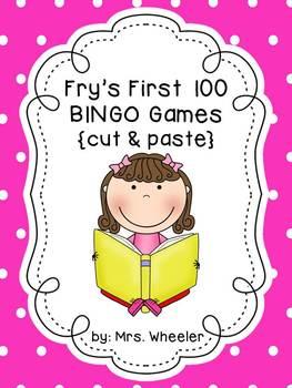 First Grade Sight Words: BINGO Game