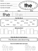 The First Hundred Fry Words Sight Word Worksheets