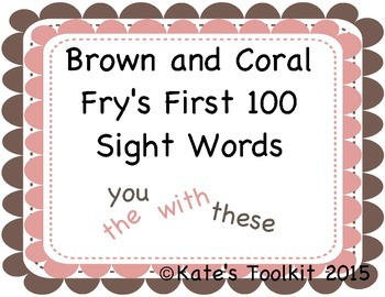 Frys First 100 Sight Words 2