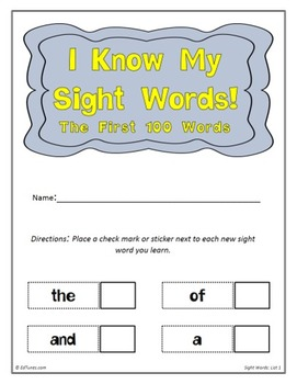 Fry's First 100 Sight Words Flash Cards by EdTunes Jr.