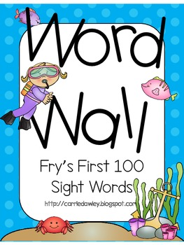 Fry's First 100 Sight Words Word Wall - Under the Sea