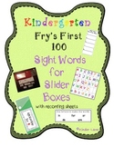 Fry's First 100 Sight Words for Slider Boxes
