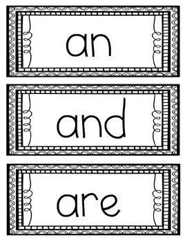 Fry's First 100 Sight Words in ABC Order