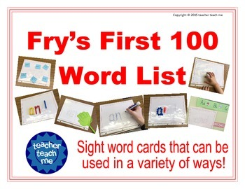Fry's First 100 Word List