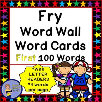 Fry Word Wall Cards - First 100 - 2 SETS