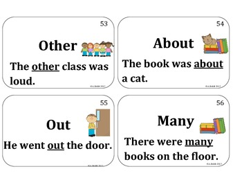 Fry's First 100 Words Flashcards (Sight Words)