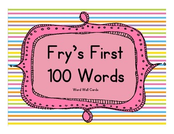 Fry's First 100 Words - Rainbow