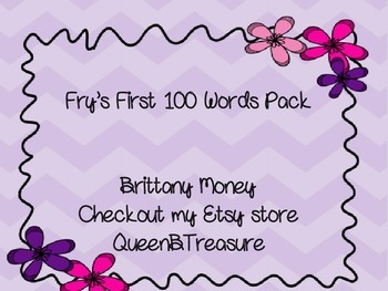 Sight Word Practice Pack #1