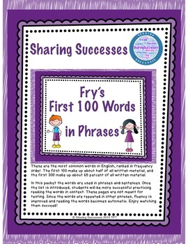 Fry's First 100 Words in Phrases