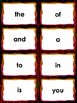 Fry's First 100 sight word flashcards Great for fluency activities!