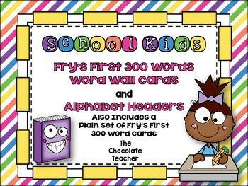 Fry's First 300 Words Word Wall Set School Kids **editable**