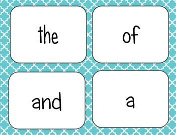 Fry's Sight Word Cards { First 500 words }