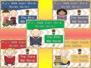 Fry's First 500 Sight Words Bundled Bundles by EdTunes Jr.