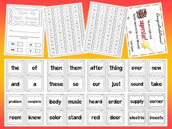 Fry's First 500 Sight Words Flash Cards Mini Bundle by EdTunes Jr.