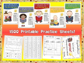 Fry's First 500 Sight Words Work Mini Bundle by EdTunes Jr.