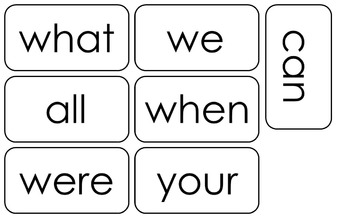 Fry's First Hundred-5th Hundred Word Lists. 500 Printable Sight Word Flashcards.