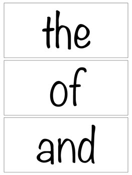 Fry's First Hundred Sight Word Flash Cards