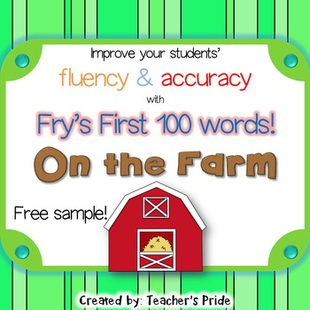 Fry's First Hundred Words FREE