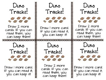 Fry's First Phrases - List One - Dinosaur Theme