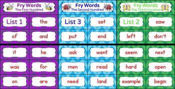 Sight Word Bingo BUNDLE - Fry's First, Second, & Third Hundred Words