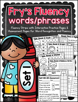 Fry's Fluency Words/Phrases – Set 1 {First 100}