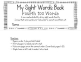 Fry's Fourth 100 Sight Words Book