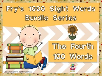 Fry's Fourth 100 Sight Words Bundle by EdTunes Jr.