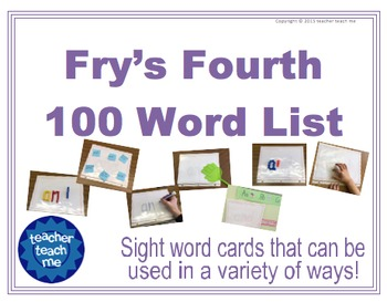 Fry's Fourth 100 Word List