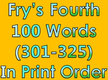 Fry's Fourth 100 Words in Print Order PowerPoint/Flash Cards - Grades 2 - 3