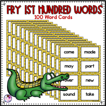 Fry Sight Words Game 1-100 **editable cards included**