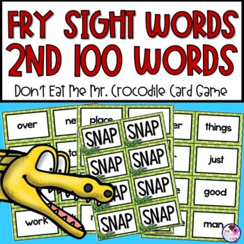 Fry's Sight Word Game 2nd 100 Words  **editable cards included**