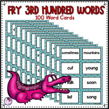 Fry's High Frequency Sight Words 3rd 100 Game editable