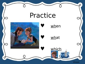 Frys High Frequency Words Flashcards- Frozen themed 2nd Set