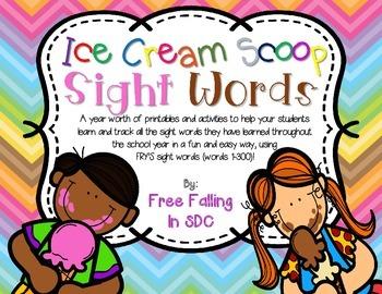 Fry's Ice Cream Scoop Sight Words!