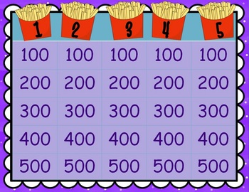 Fry's Instant Phrases 2nd 25 (of first 100 words) GAME SHOW for PowerPoint
