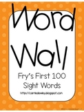 Fry's Instant Word First Hundred Words Word Wall - Orange Dot