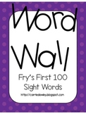 Fry's Instant Word First Hundred Words Word Wall - Purple Dot