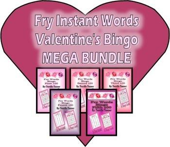 Fry's Instant Words Valentine's Day Bingo MEGA Bundle