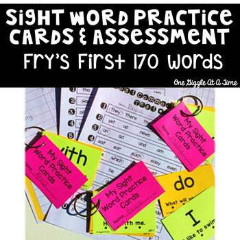Sight Word Assessments & Practice Cards (Fry's First 170 Words)