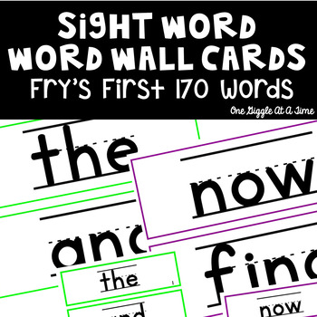 Word Wall Cards & Display Cards (Fry's First 170 Words)