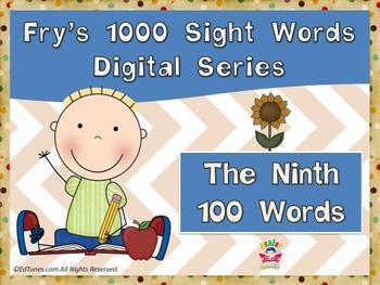Fry's Ninth 100 Digital Sight Words by EdTunes Jr.